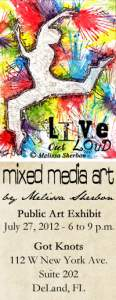 Mixed Media Art at 4th Friday Art Walk in DeLand